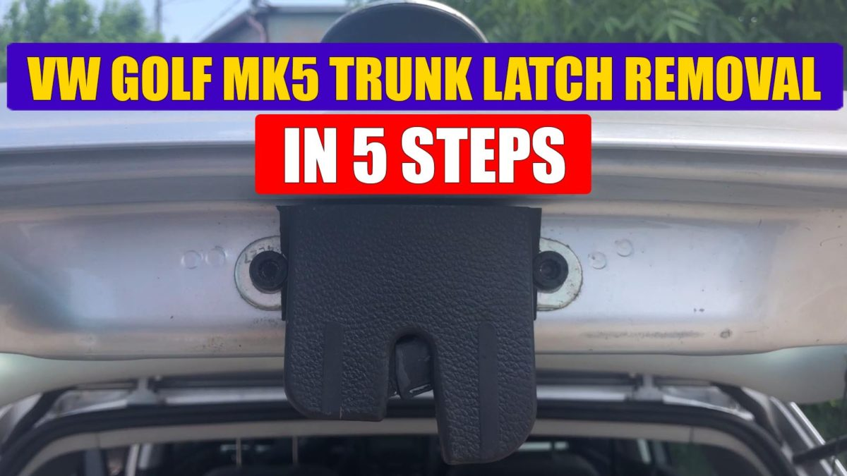 hight resolution of tutorial how to remove boot lock trunk latch from vw golf mk5 in just 5 simple steps