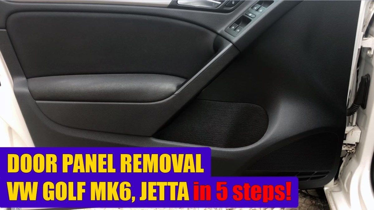 TUTORIAL: How to remove / replace driver door panel on VW Golf Mk6, Jetta (2008 – 2012) in just 5 simple steps