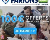 Parions Sport (FDJ) offre promotionnelle bonus jusqu'à 100€ offerts