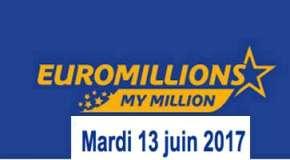 Résultat Euromillions et My Million (FDJ) tirage du Mardi 13 juin 2017
