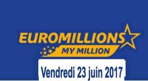 Résultat Euromillions et My Million (FDJ) vendredi 23 juin 2017