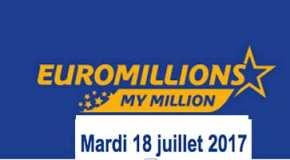 Résultat Euromillions et My Million (FDJ) tirage du Mardi 18 juillet 2017