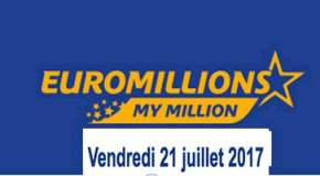 Résultat Euromillions et My Million (FDJ) vendredi 21 juillet 2017