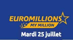 Résultat Euromillions et My Million (FDJ) du Mardi 25 juillet 2017