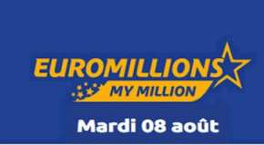 Résultat Euromillions et My Million (FDJ) tirage du Mardi 8 Août 2017
