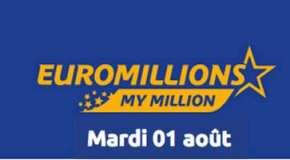 Résultat Euromillions et My million (FDJ) tirage du Mardi 1 Août 2017