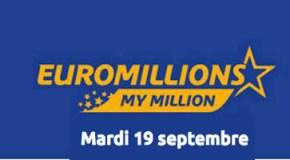 Résultat Euromillions et My Million (FDJ) tirage Mardi 19 Septembre 2017