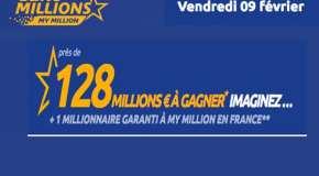 Résultat Euromillions et My Million (FDJ) tirage Vendredi 9 Février 2018