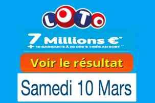 résultat loto 10 Mars 2018