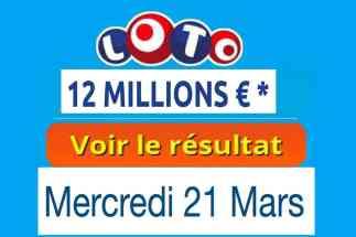 résultat loto 21 mars 2018