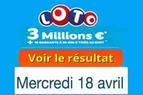 résultat loto 18 avril 2018
