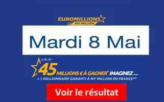 résultat fdj euromillions mardi 8 mai 2018