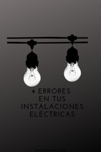 errores en instalaciones eléctricas
