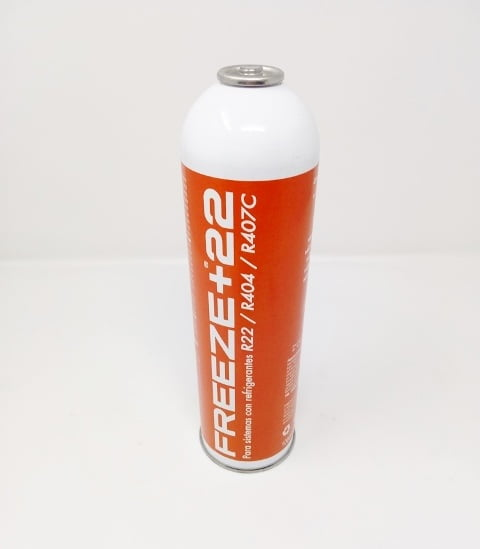 Gas refrigerante Freeze+22, envase 1000 m.l. 400 gr.