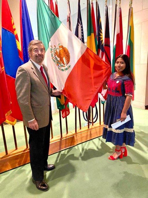 Juan Ramón de la Fuente, embajador de México efectuó el anuncio. La actriz indígena Yalitza Aparicio participó del anuncio.