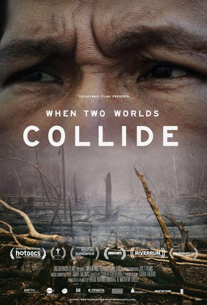 Cartel publicitario de When Two Worlds Collide, de Heidi Brandenburg y Mathew Orzel