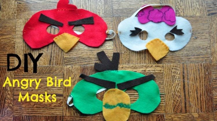 Easy Angry Bird masks with felt