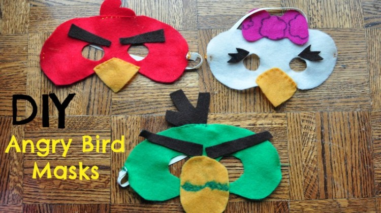 Easy Angry Bird masks with felt