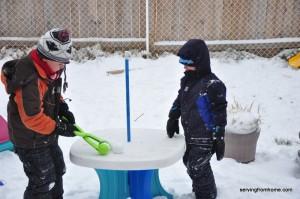 boys and snow