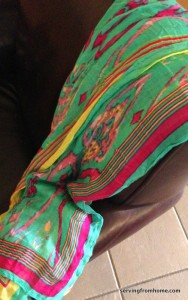brightly coloured scarves