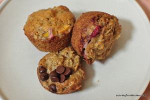 whole wheat soaked oatmeal muffins