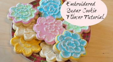 embroidered sugar cookie