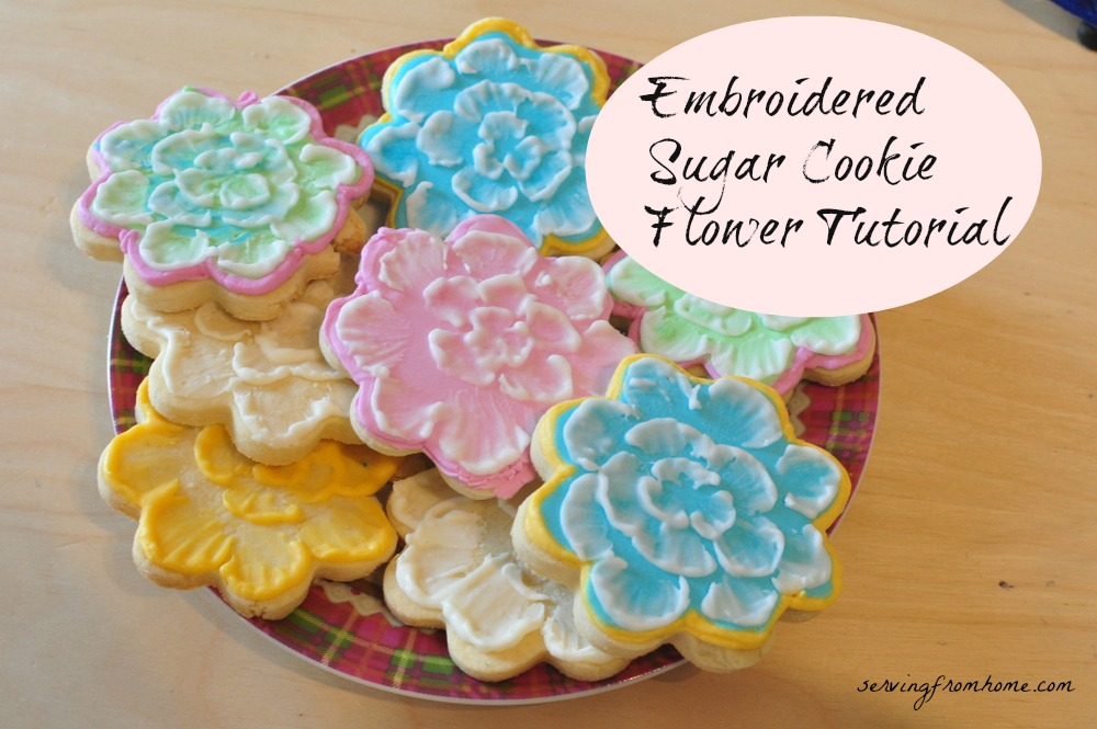 Embroidered Sugar Cookie Flower Video Tutorial