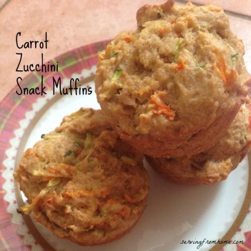 Carrot Zucchini Snack Muffins