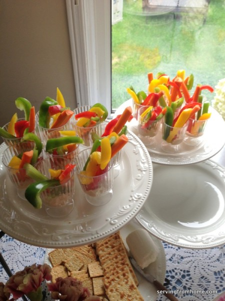 Veggies and Dip for a party
