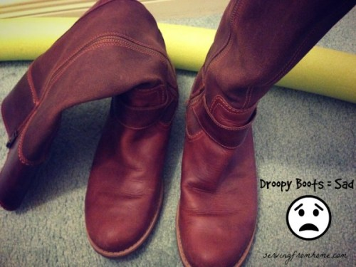 Droopy boots