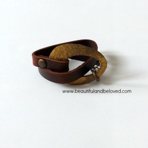 B&B hand hammered cuff