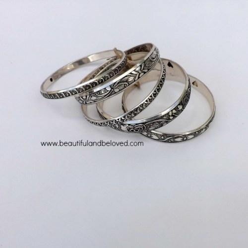 B&B silver bangles