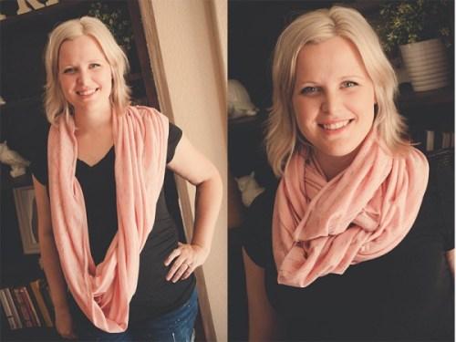 Pink nursing scarf