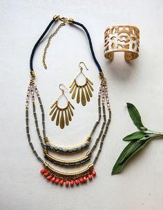 noonday tear drop necklace