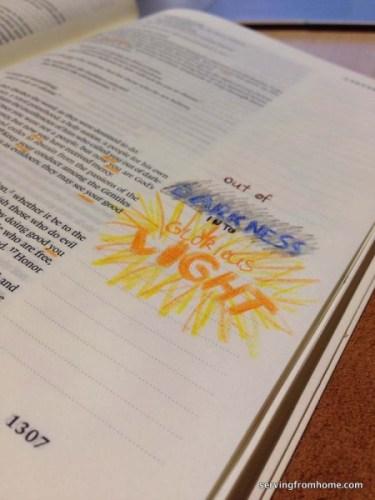 1 Peter 2:9 bible art journaling