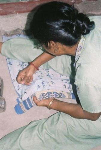 Sari bari sewing
