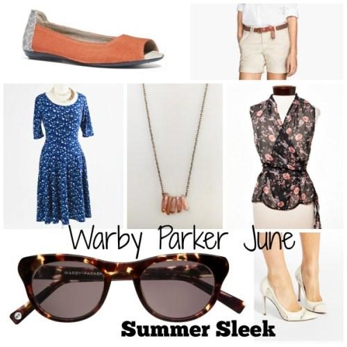 Warby Parker June Burnt Lemon Tortoise Summer Sleek Collection