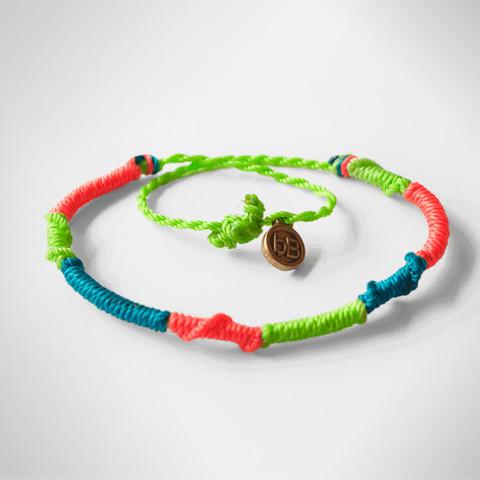 beyondbeanie green rainbow bracelet