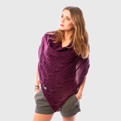 beyondbeanie purple illimani poncho