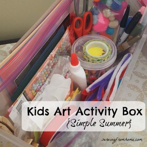 Kids Art Activity Box