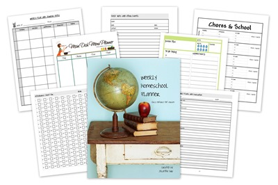 homeschool creations weekly homeschool planner