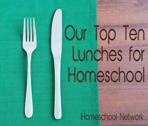 lunches for homeschool
