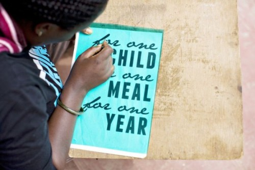 No 41 one meal one child one year