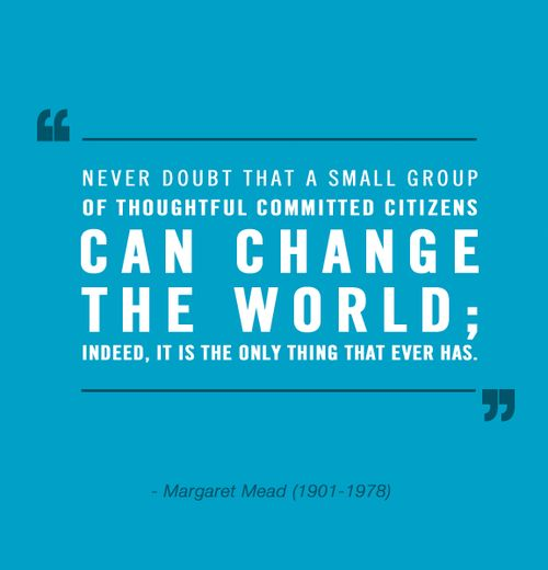 margaret mead change the world quote