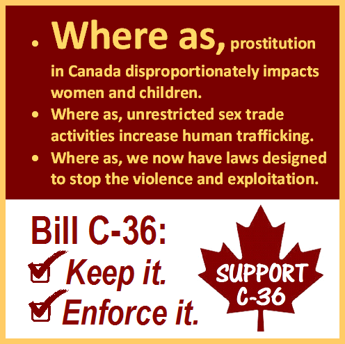 Canada anti trafficking Bill C-36