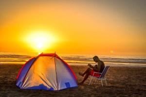 camp site dawn