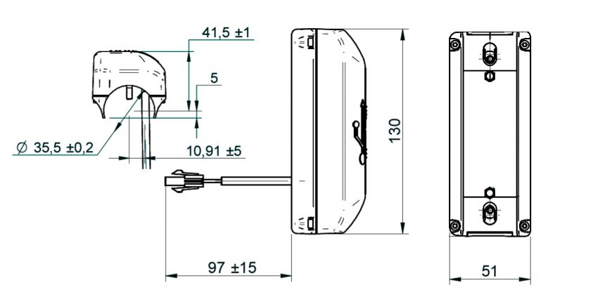 USB.COL is a USB double charging socket for column fitting