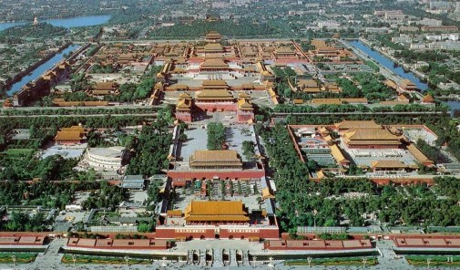Forbidden City China from the sky by Historical Guide of China
