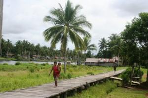 Jalan papan kayu di pedalaman Sagare Agats email