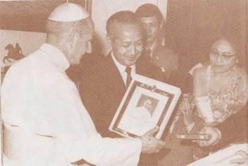 Paus Paulus VI dan Presiden Suharto